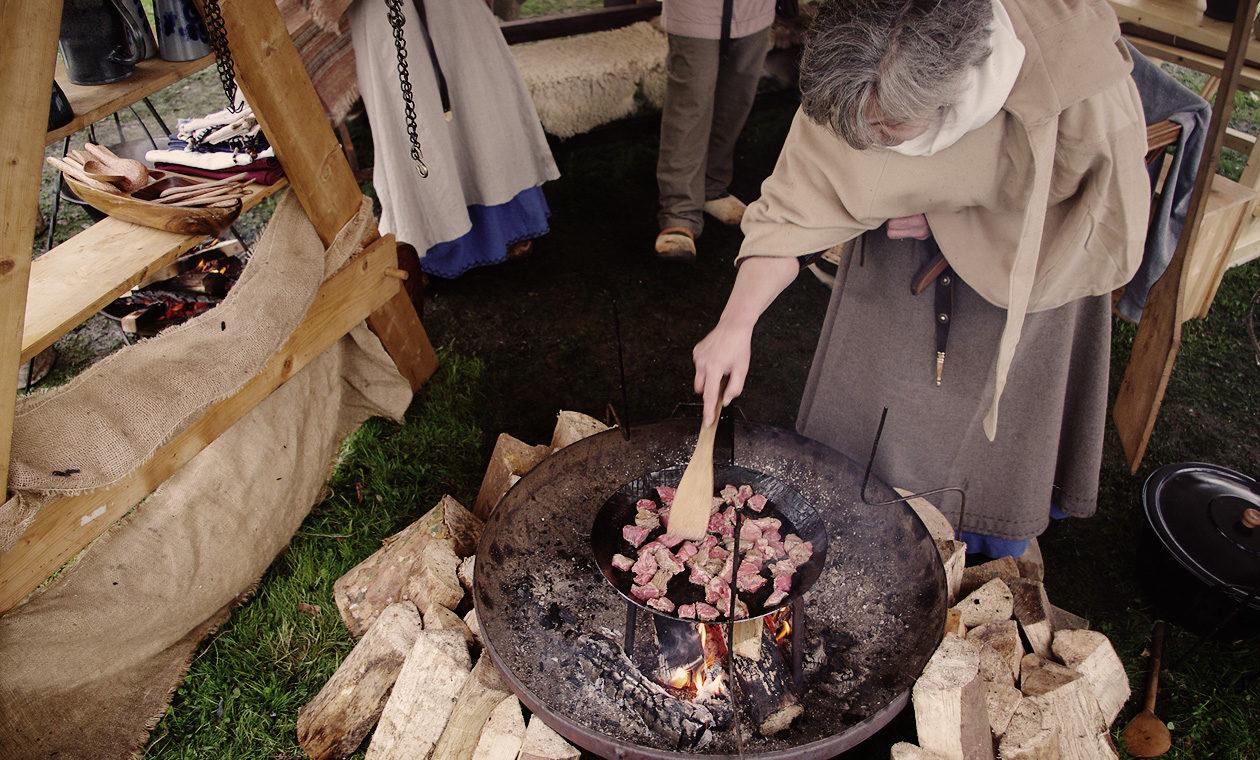Kochstelle auf unserem Mittelalterlager in Hauzenberg