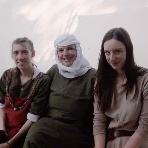 Für die drei Damen das erste Lager: Anne, Gudrun und Julia
