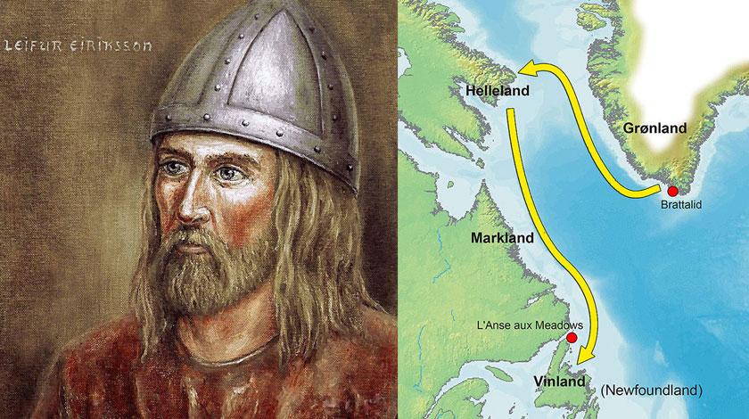 Der Wikinger Leif Erikssons Weg nach Vinland / Bildquelle: Wikipedia