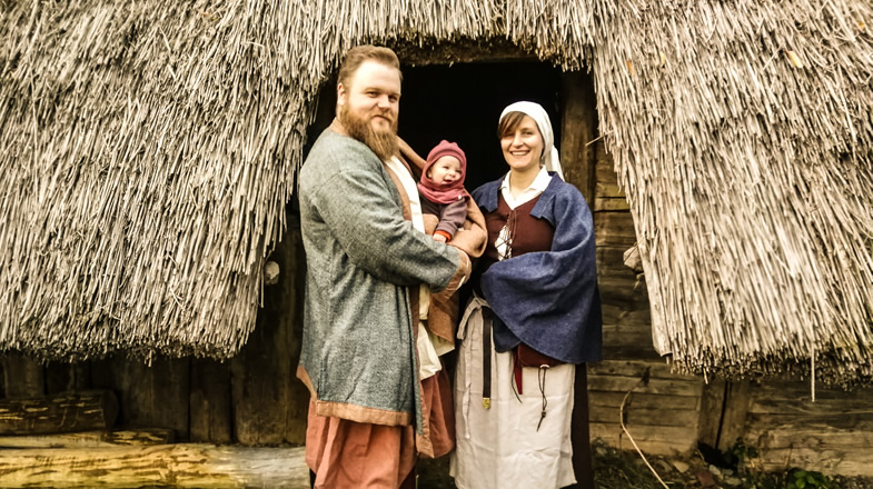 Christhoper und Dorothea mit Töchterchen Marie