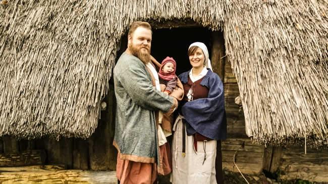 Christopher mit Dorothea und Töchterchen Marie