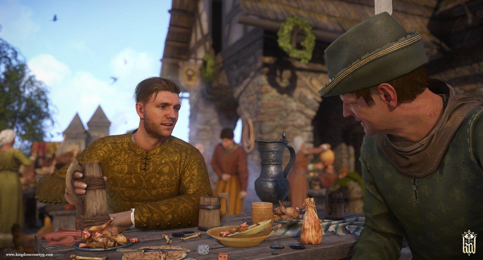 Auch das Trinken und Essen ist ein wichtiger Bestandteil des Spiels