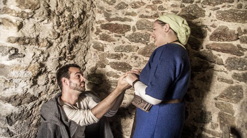 Andreas und Stefanie beim Nachahmen eines romantischen Moments