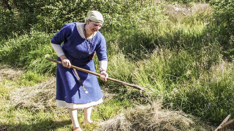 Stefanie bei der Feldarbeit